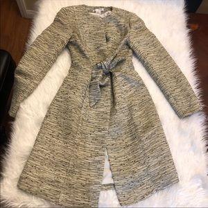 White House Black Market Long Dress Coat Duster